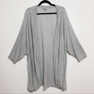 H&M Plus Size Grey Open Front Cardigan